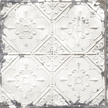 Tin Ceiling White Distressed Tiles