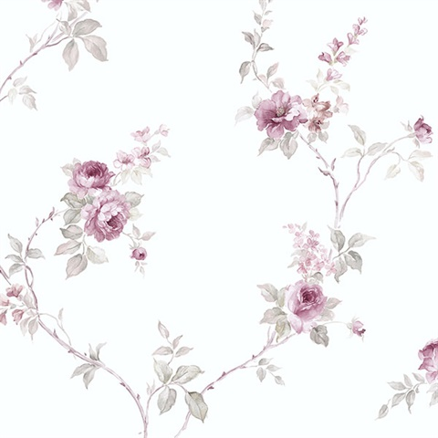 Tiny Vine Roses Wallpaper