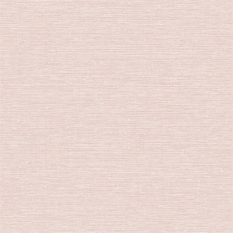 Tiverton Blush Pink Faux Grasscloth Wallpaper