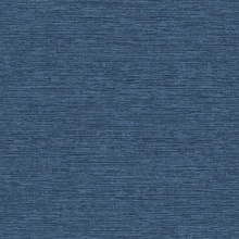 Tiverton Dark Indigo Faux Grasscloth Wallpaper