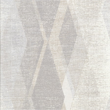 Torrance Taupe Distressed Geometric Wallpaper