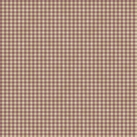 Toto Red Gingham Check Wallpaper