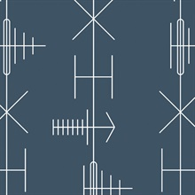 Transmission - Washed Denim colourway wallpaper