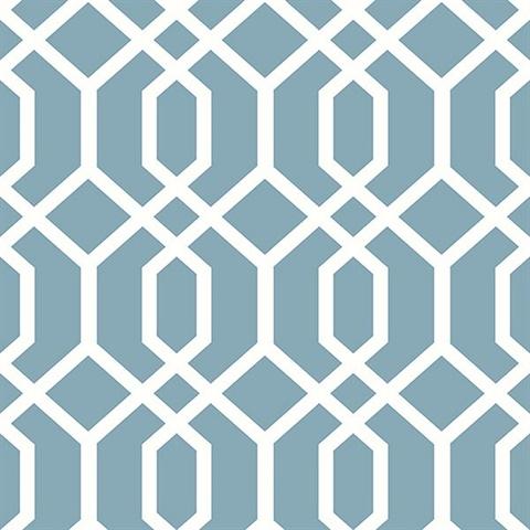 trellis blue montauk - Trellis Wall Paper