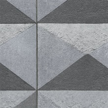 Triangle Rocks Black & Gray