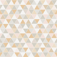 Triangular Off-White Geometric Wallpaper