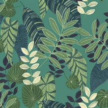 Tropicana Tropical Leaf Green Wallpaper