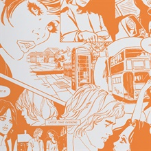 True Romance - Tangerine Dream colourway wallpaper