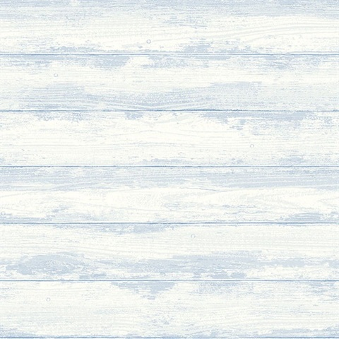 Truro Light Blue Weathered Wood Boards Wallpaper