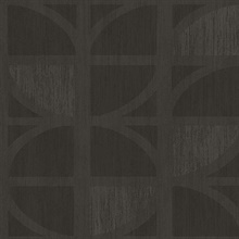 Tulip Chocolate Geometric Trellis Wallpaper