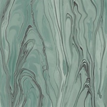 Turquoise Liquid Marble Wallpaper