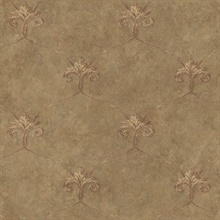 Tuscan Brown Shimmering Ogee