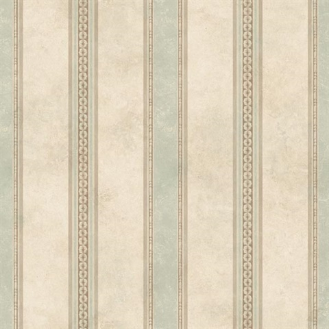 Tuscan Green Stripe Wallpaper