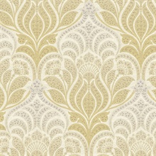 Twill Yellow Damask
