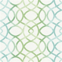 Twister Aquamarine Trellis Wallpaper