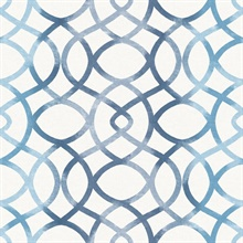 Twister Blue Trellis Wallpaper