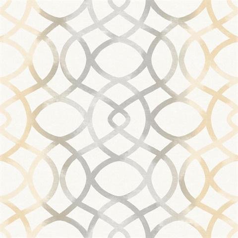 twister ginger trellis wallpaper - Trellis Wall Paper