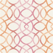 Twister Pink Trellis Wallpaper