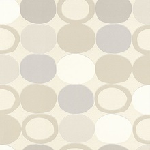 Tybalt Grey Geometric Wallpaper