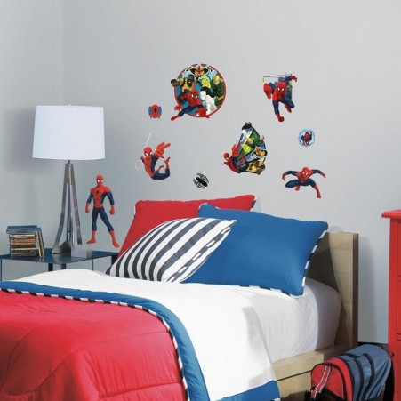 Ultimate Spider Man And Team Hero L Stick Wall Decals