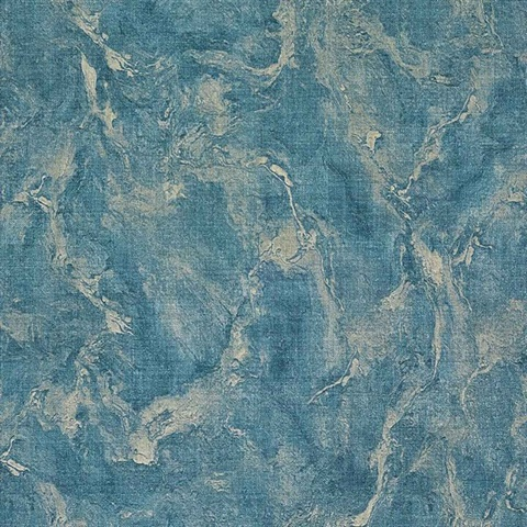 Unito Rumba Blue Marble Textured Wallpaper