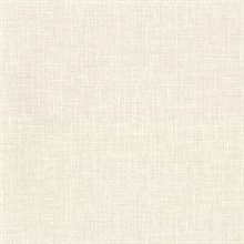 Upton Cream Faux Linen Vinyl Wallpaper