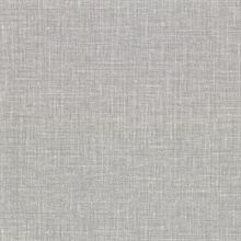 Upton Grey Faux Linen Vinyl Wallpaper