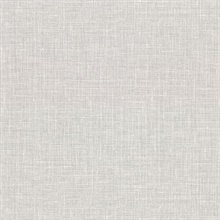 Upton Light Grey Faux Linen Vinyl Wallpaper