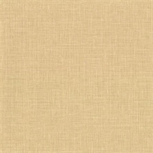 Upton Wheat Faux Linen Vinyl Wallpaper