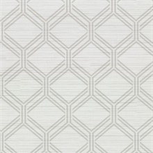 Vaughan Light Grey Geometric Vinyl Wallpaper