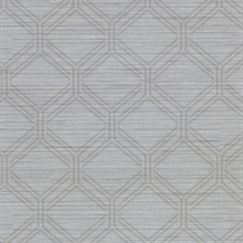 Vaughan Pewter Geometric Vinyl Wallpaper