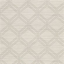 Vaughan Taupe Geometric Vinyl Wallpaper