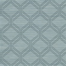 Vaughan Teal Geometric Vinyl Wallpaper