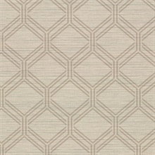 Vaughan Wheat Geometric Vinyl Wallpaper