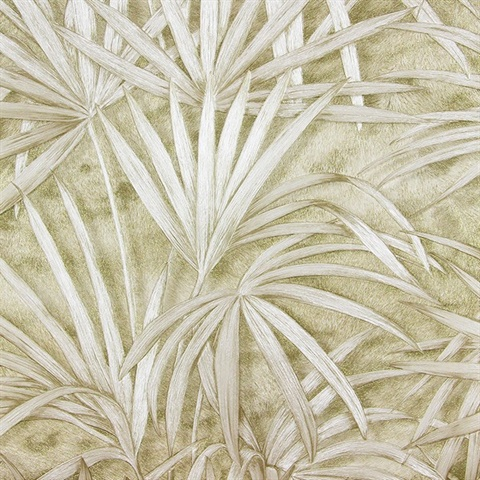 Veneto Champagne Palm Tree Wallpaper