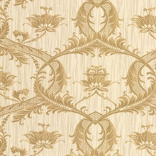 Vignole Gold Damask