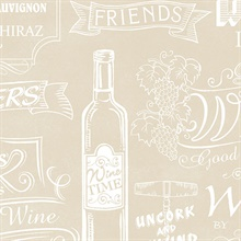 Vintage Taupe Wine Sayings Wallpaper