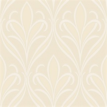 Vivian Neutral Nouveau Damask