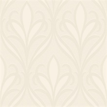 Vivian Off-White Nouveau Damask