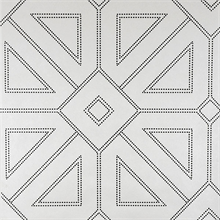 Voltaire Black & White Geometric Beaded Surface Wallpaper