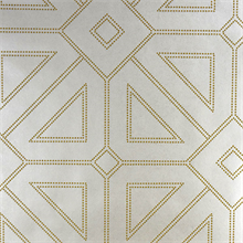 Voltaire Ivory Geometric Beaded Surface Wallpaper