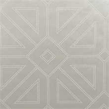 Voltaire Platinum Geometric Beaded Surface Wallpaper