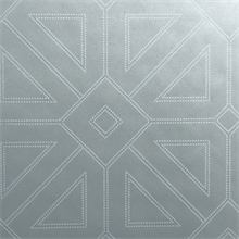 Voltaire Silver Geometric Beaded Surface Wallpaper