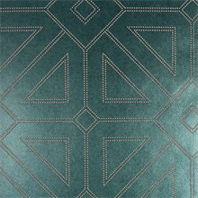 Voltaire Turquoise Geometric Beaded Surface Wallpaper