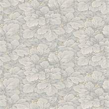 Waldemar Grey Foliage Wallpaper