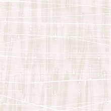 Watercolor Abstract Lined Splatter Pale Pink & Beige Wallpaper