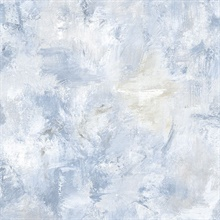 Watercolor Brush Strokes Blue Wallpaper
