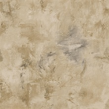 Watercolor Brush Strokes Brown, Grey & Black Wallpaper