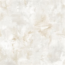 Watercolor Brush Strokes Brown & Grey Wallpaper