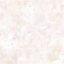 Watercolor Brush Strokes Pale Pink & Beige Wallpaper